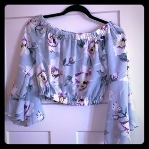 Floral crop top blouse